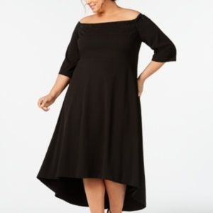 Calvin Klein Plus Size Off-The-Shoulder High-Low G